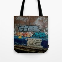 grafitti Tote Bags featuring Grafitti Art by Lisa De Rosa-Essence of Life Photography
