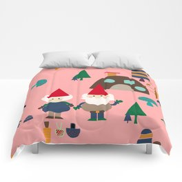 gnome pink Comforters