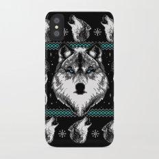 Merry Wolfmas iPhone X Slim Case