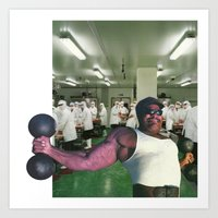 muscle Art Prints featuring muscle by Colleen McCulla