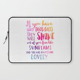 Good thoughts - colorful lettering Laptop Sleeve
