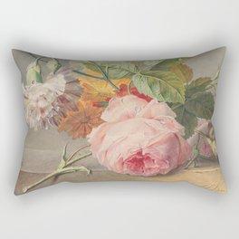 Fine art floral still life of pink roses. Georgius van Os Rectangular Pillow