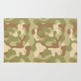 Forest Camo pattern 3 Rug