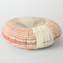 A Geocentric Universe Floor Pillow