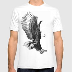 Soaring Eagle White Mens Fitted Tee MEDIUM