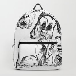 Creepy Man Faces Backpack