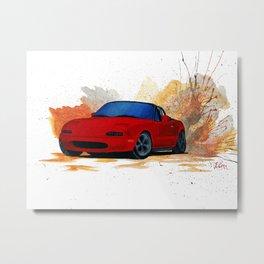 Mazda Miata Drift Painting Metal Print