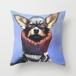 Turtlenecker Throw Pillow