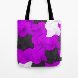 Black, white and purple twisted pyramids Tote Bag