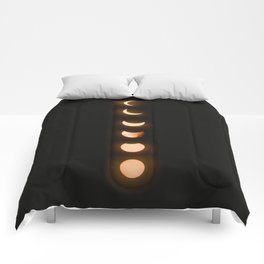moon phases bright moon crescent moon astronomy night sky solar eclipse magic wicca lunar calendar Comforters