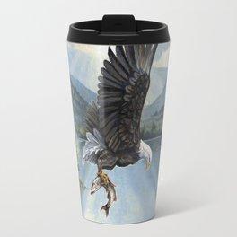 Eagle with Fish Travel Mug