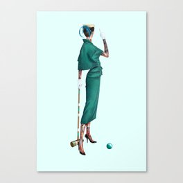 Croquet and Ink Four Canvas Print