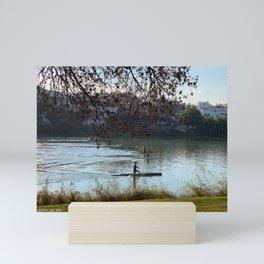 Sprint canoe Mini Art Print