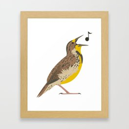 Meadowlark! Framed Art Print