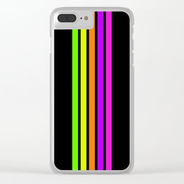Rainbow Stripes VI Clear iPhone Case