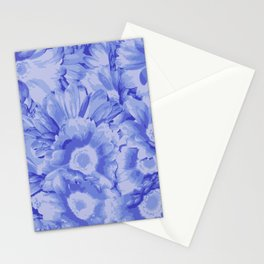 Sandy Blue-ish Flowers Stationery Cards