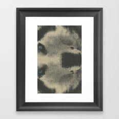 Just a lil husky. Framed Art Print