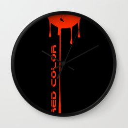 PARAGLIDING COLORS: RED Wall Clock