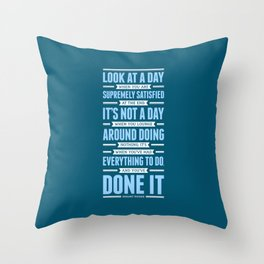 Lab No. 4 Look At A Day When Margaret Thatcher Inspirational Quote Throw Pillow