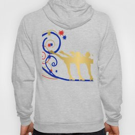 Gold Silhouette Synchro Team Graphic Design Hoody