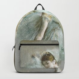 Dancer in Green (ca 1883) painting in high resolution by Edgar Degas Backpack