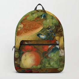 """Jan van Os  """"Fruit still life with a mouse on a ledge"""" Backpack"""