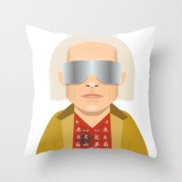 DOC BROWN Throw Pillow