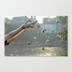 Paper Cranes Canvas Print