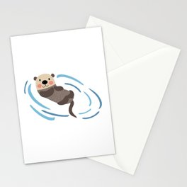 Relax Sea Otter Stationery Cards