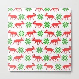 Christmas pixels  Metal Print