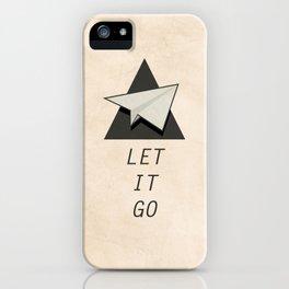 Let It Go Quotes Paper Plane iPhone Case