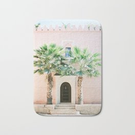 "Travel photography print ""Magical Marrakech"" photo art made in Morocco. Pastel colored. Bath Mat"