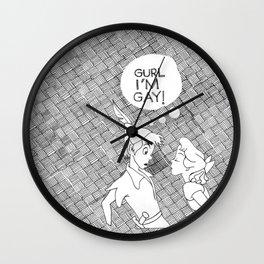 GURL... I'M GAY! (Peter Pan) Wall Clock