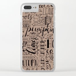 All Things Fall on Craft Clear iPhone Case