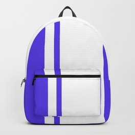 Strips - blue and white. Backpack