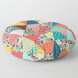 llama geo triangles Floor Pillow