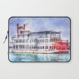 New Orleans Paddle Steamer Art Laptop Sleeve