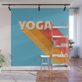 Yoga retro typography Wall Mural
