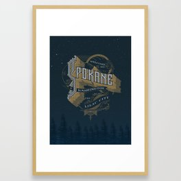 Welcome to Spokane Framed Art Print