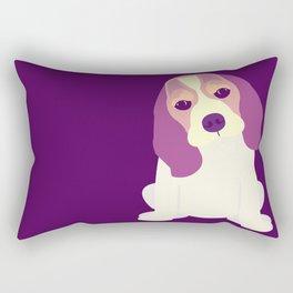Cute Beagle Puppy Rectangular Pillow