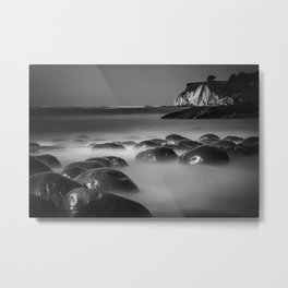 Exposed Bowling Ball Beach Northern California Metal Print