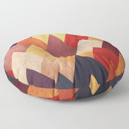 Eccentric Mountains Floor Pillow