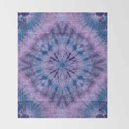 Purple Tie Dye Throw Blanket