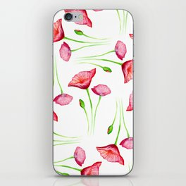 Poppy pattern iPhone Skin