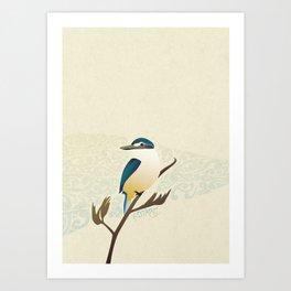 Kotare Art Print