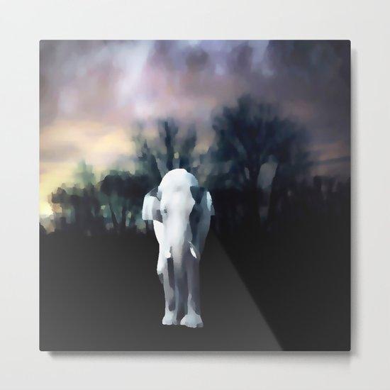 I heart the Elephant Metal Print