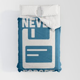 Never Forget Floppy Disk Geek Quote Comforters