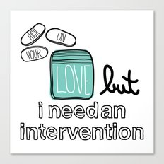 Intervention  Canvas Print