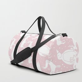 Polar gathering (powder rose) Duffle Bag