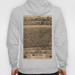 Map Of Moncton 1888 Hoody
